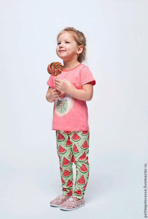 Одежда для девочек, ручной работы. Ярмарка Мастеров - ручная работа. Купить легинсы Арбуз. Handmade. Зеленый, арбуз, для девочки