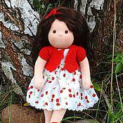 """Куклы и игрушки ручной работы. Ярмарка Мастеров - ручная работа """"Вишенка"""" Куколка по вальдорфским мотивам. Handmade."""