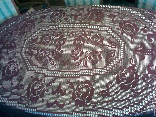 """Текстиль, ковры ручной работы. Ярмарка Мастеров - ручная работа. Купить Скатерть овальная """"Прованс"""". Handmade. Коричневый, подарок маме"""