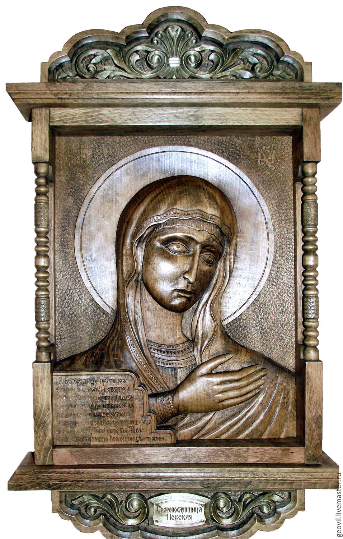 Icon of the Theotokos 'quick to hearken Nevskaya ', 50 x 80 cm, Icons, St. Petersburg,  Фото №1