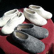 Обувь ручной работы. Ярмарка Мастеров - ручная работа тапочки шерстяные валянные домашние. Handmade.