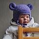 """Для новорожденных, ручной работы. Шапочка """"Пушистый Мышонок"""". Mария Green Eyes & сompany. Ярмарка Мастеров. Мышка, для фотосессии"""
