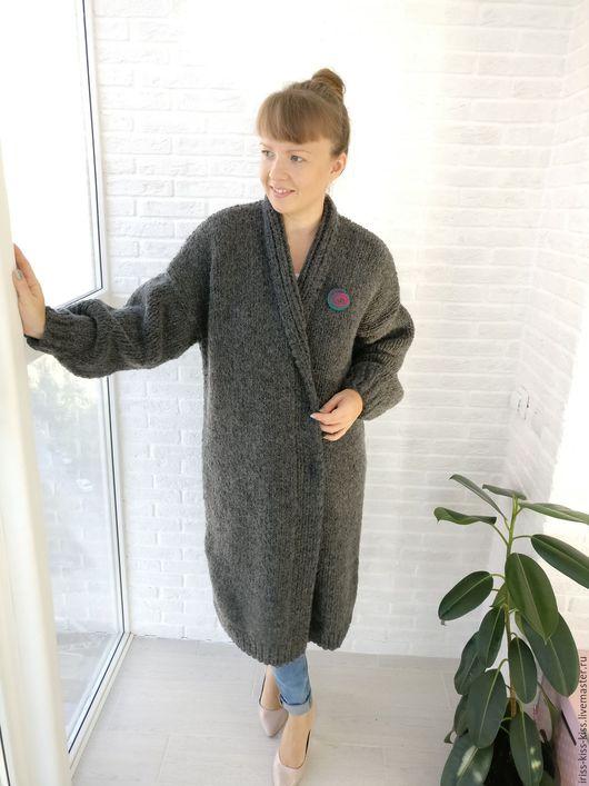 Верхняя одежда ручной работы. Ярмарка Мастеров - ручная работа. Купить Пальто Тепло 3. Handmade. Темно-серый, италия