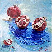 """Картины и панно ручной работы. Ярмарка Мастеров - ручная работа картина """"50 оттенков синего"""". Handmade."""