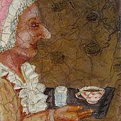 """Картины и панно ручной работы. Ярмарка Мастеров - ручная работа Панно на дереве  """"Шоколадница"""". Handmade."""