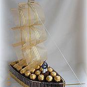 Подарки к праздникам ручной работы. Ярмарка Мастеров - ручная работа Корабль шоколадный. Handmade.