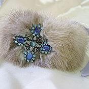 Украшения ручной работы. Ярмарка Мастеров - ручная работа меховой браслет. Handmade.