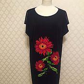 Одежда ручной работы. Ярмарка Мастеров - ручная работа %Платье Красный букет. Handmade.