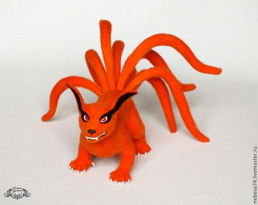 Сказочные персонажи ручной работы. Ярмарка Мастеров - ручная работа. Купить Девятихвостый Демон Лис ( Nine-tail demon fox Kurama ). Handmade.