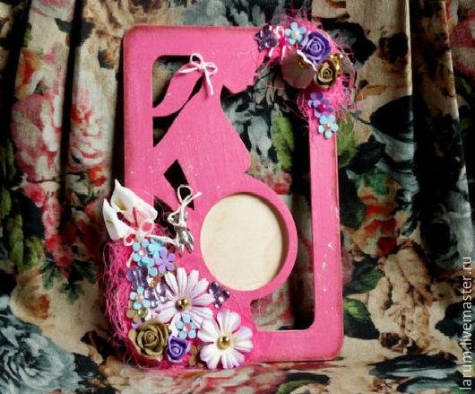 """Фоторамки ручной работы. Ярмарка Мастеров - ручная работа. Купить Фоторамка """" В ожидании..... Handmade. Розовый, розочки, каллы"""