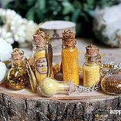 Украшения handmade. Livemaster - original item Pendant Jar with potion gold Harry Potter Felix Felice potion good luck. Handmade.