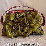 Сумки и аксессуары handmade. Livemaster - original item clutches: Handbag decor. The green reticule.. Handmade.