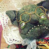 """Куклы и игрушки ручной работы. Ярмарка Мастеров - ручная работа """"Бабушка"""" и еёная внучка :))). Handmade."""