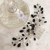 Свадебный салон handmade. Livemaster - original item wedding comb black and white. decoration for hair.. Handmade.