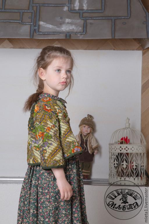Одежда для девочек, ручной работы. Ярмарка Мастеров - ручная работа. Купить куртка детская Краски лета. Handmade. Зеленый, девочке