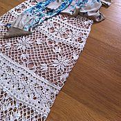 Одежда ручной работы. Ярмарка Мастеров - ручная работа Длинная летняя юбка связанная крючком Летняя Сага. Handmade.