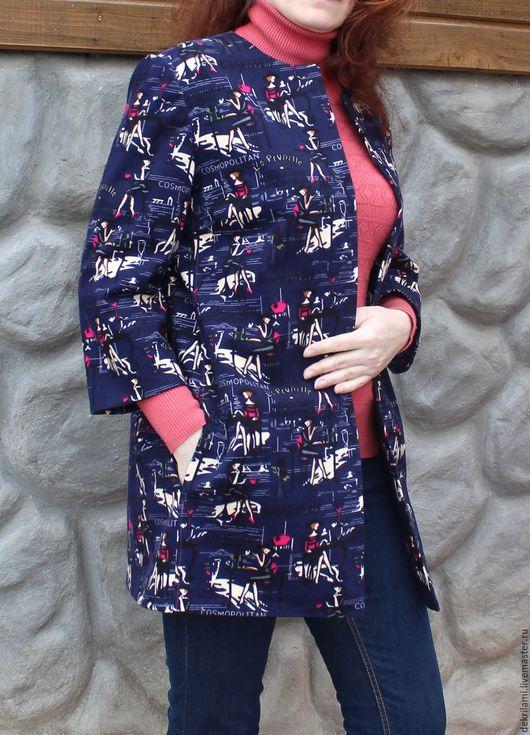 Верхняя одежда ручной работы. Ярмарка Мастеров - ручная работа. Купить Летнее Пальто COSMO. Handmade. Пальто, сшить пальто
