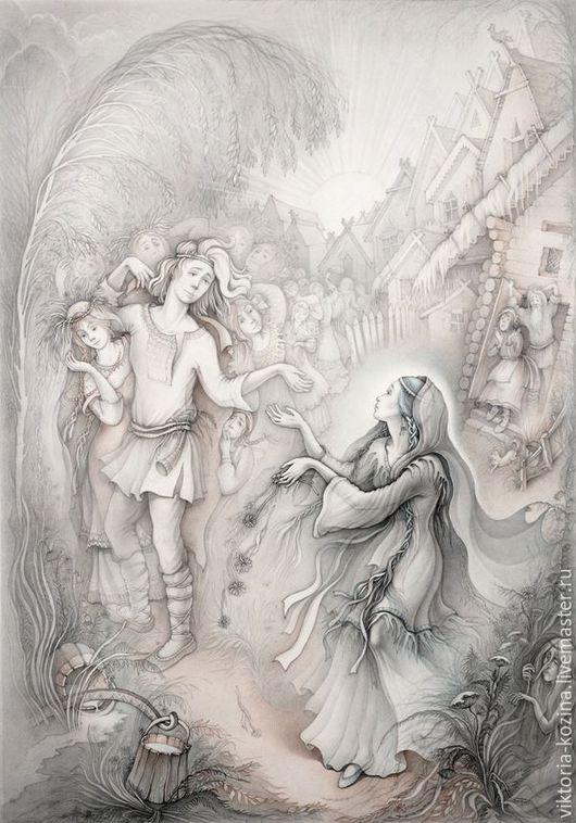 Не данном постере изображена сцена объяснения Снегурочки и пастуха Леля,который предпочёл снежной хрупкой девочке простых крестьянских красавиц из страны царя Берендея