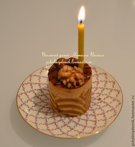 Свечи ручной работы. Ярмарка Мастеров - ручная работа. Купить Свеча из пчелиного воска для торта. Handmade. Желтый, свечи для детей