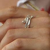 Украшения ручной работы. Ярмарка Мастеров - ручная работа Основа для кольца sRN129, серебро, змейка. Handmade.