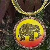 """Украшения ручной работы. Ярмарка Мастеров - ручная работа Кулон  """"Слон достатка"""" из полимерной глины. Handmade."""