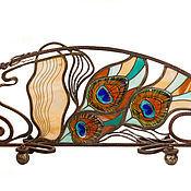 Для дома и интерьера ручной работы. Ярмарка Мастеров - ручная работа Каминный экран Перо павлина. Handmade.