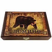 Активный отдых и развлечения handmade. Livemaster - original item Dominoes in a wooden box