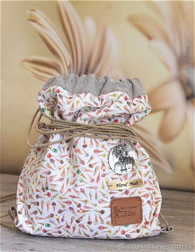 bf0efe04259a Backpacks handmade. Livemaster - handmade. Buy Ice cream sweet backpack for  the summer or ...
