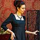 Платья ручной работы. Ярмарка Мастеров - ручная работа. Купить платье из итальянской жаккардовой шерсти с добавлением шелка. Handmade. Черный