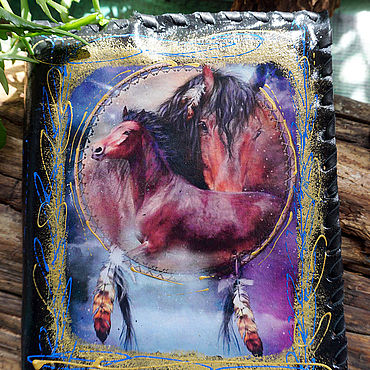 Stationery handmade. Livemaster - original item Diary in a leather cover of a Horse. Handmade.