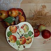 Для дома и интерьера ручной работы. Ярмарка Мастеров - ручная работа Яблочные часы. Handmade.