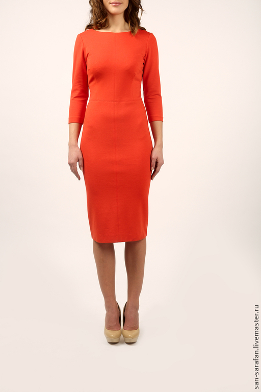Платья ручной работы. Ярмарка Мастеров - ручная работа. Купить Платье. Handmade. Рыжий, оранжевое настроение, одежда для женщин, джерси