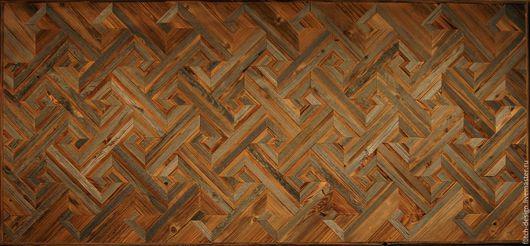 Абстракция ручной работы. Ярмарка Мастеров - ручная работа. Купить Панно из старой древесины RN12. Handmade. Темно-серый, панно