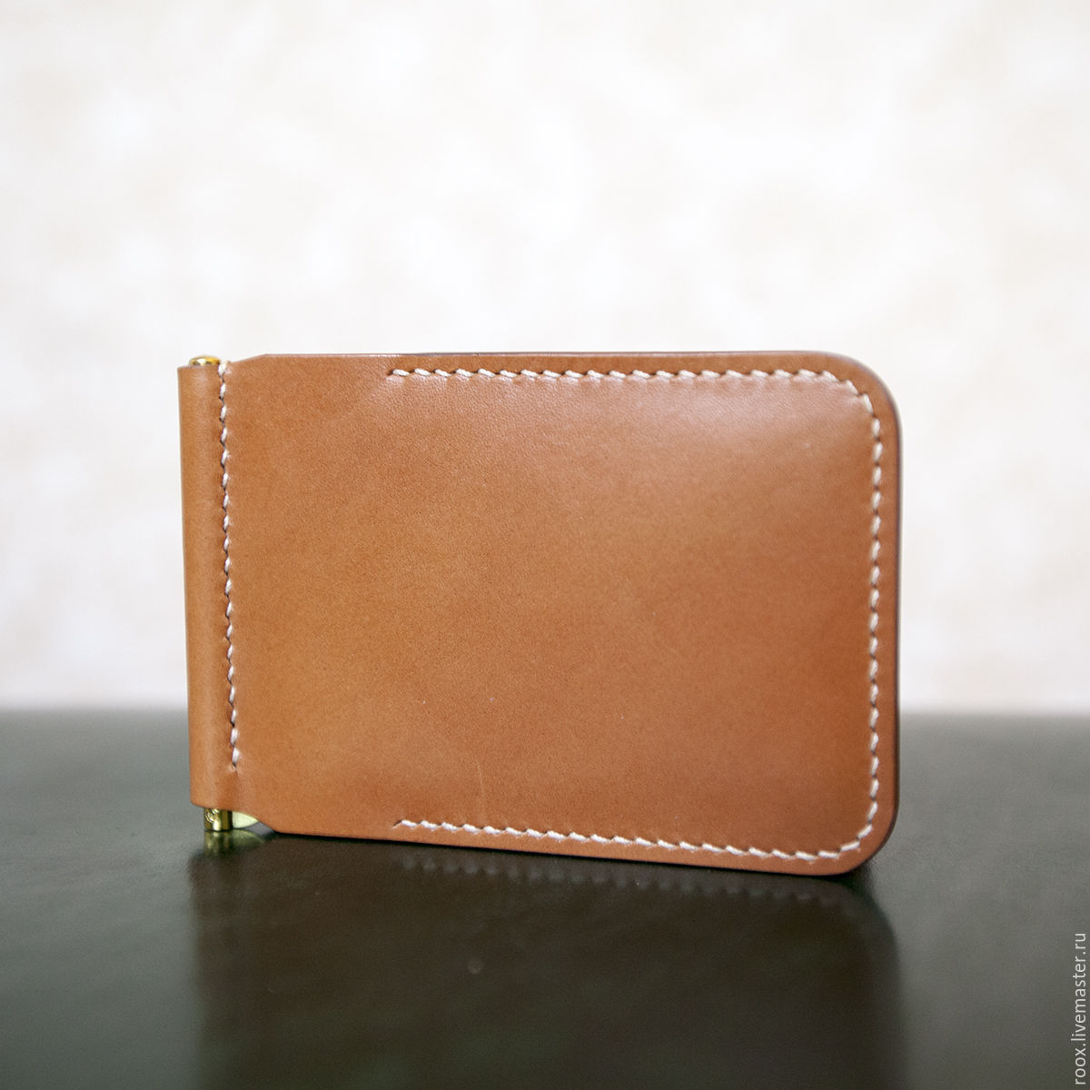 Wallet with clip leather Plaque de Collet vegetable tanned, Clamps, Moscow,  Фото №1