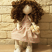 Куклы и игрушки ручной работы. Ярмарка Мастеров - ручная работа Текстильная каркасная кукла - Храбрая сердцем. Handmade.