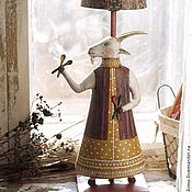 """Для дома и интерьера ручной работы. Ярмарка Мастеров - ручная работа Лампа """"Коза с ложками"""". Handmade."""