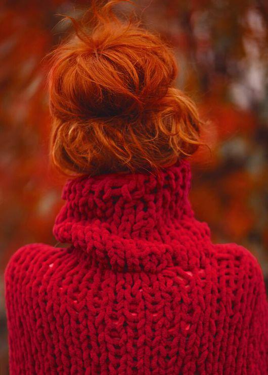 Красный свитер женский доставка