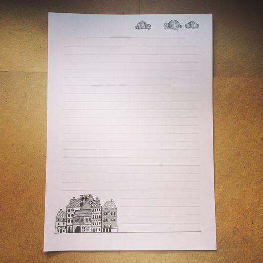 Упаковка ручной работы. Ярмарка Мастеров - ручная работа. Купить Бумага для теплых писем. Handmade. Бумага, бумага для писем, домик