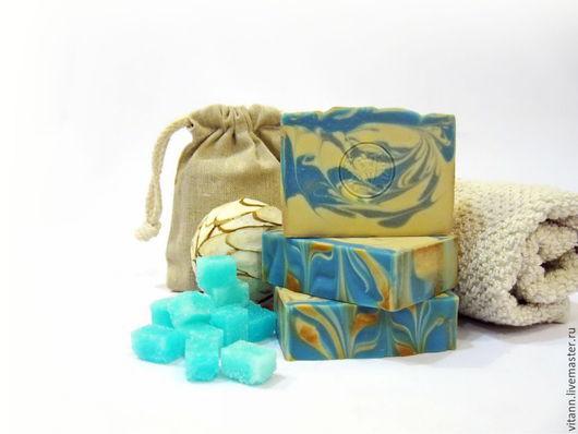 """Мыло ручной работы. Ярмарка Мастеров - ручная работа. Купить """"Синий сахар"""" натуральное мыло мужское. Handmade. Мыло с нуля"""
