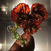 Украшения handmade. Livemaster - original item Collectible flower brooch, gift for a woman,