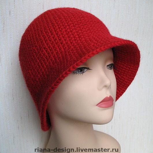 """Шляпы ручной работы. Ярмарка Мастеров - ручная работа. Купить Шляпка """"Шик"""" (красная). Handmade. Вязаная шляпка, шляпка"""
