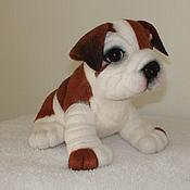 Подарки к праздникам ручной работы. Ярмарка Мастеров - ручная работа щенок  английского бульдога. Handmade.