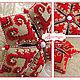"""Вышивка ручной работы. Силуэтная вышивка полукрестом """"Олени"""" + подарок. Ирина Наниашвили. Ярмарка Мастеров. Фетр"""