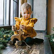 Работы для детей, handmade. Livemaster - original item Girl`s Romper. Handmade.