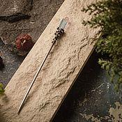 Украшения handmade. Livemaster - original item Hair sticks with tinted pink and blue mountain crunch. Handmade.