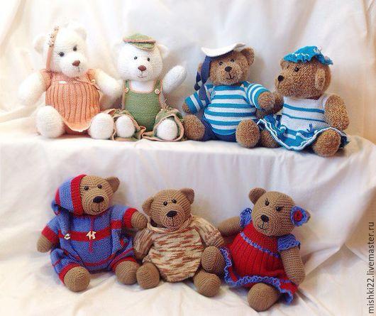 Мишки Тедди ручной работы. Ярмарка Мастеров - ручная работа. Купить Вязанные спицами Мишки Тедди. Handmade. Мишки тедди