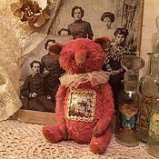 Мягкие игрушки ручной работы. Ярмарка Мастеров - ручная работа Клубничный медвежонок выкройка. Handmade.