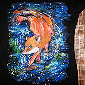 Одежда handmade. Livemaster - original item T-shirt with a picture of