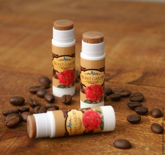 """Бальзам для губ ручной работы. Ярмарка Мастеров - ручная работа. Купить Шоколадный бальзам """"Кофе. Handmade. Шоколадный цвет"""