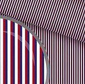 """Материалы для творчества ручной работы. Ярмарка Мастеров - ручная работа Польский Хлопок """"Полосочки сине-красные"""" 100% В наличии. Handmade."""